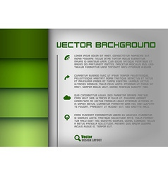 layout green vector image