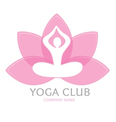 Logo yoga vector