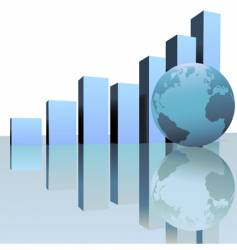 global profit growth vector image
