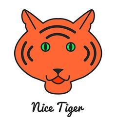Tiger logo or icon in color wild ca vector image