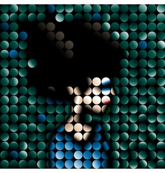 Mosaic portrait vector