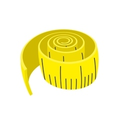 Measuring tape cartoon icon vector
