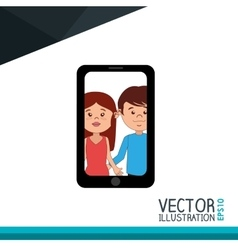 Selfie photography design vector