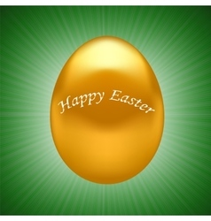 Gold easter egg vector