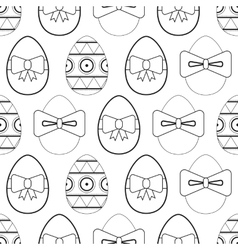 Seamless black and white pattern flat easter eggs vector