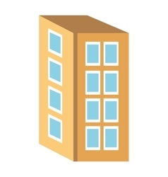 Colorful four floor building graphic vector