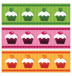 cake banners vector image vector image