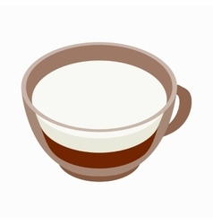 Cappuccino cup icon isometric 3d style vector image vector image