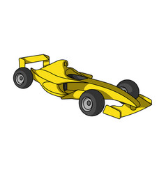 Car racingextreme sport single icon in cartoon vector