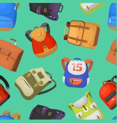 cartoon kids school bags backpack back to vector image vector image