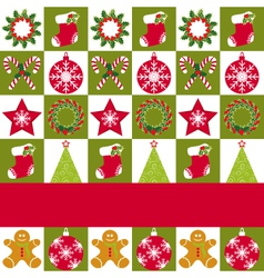 christmas ornament seamless vector image vector image