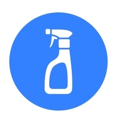 Cleaner spray black icon for web and vector