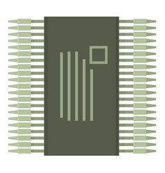 Detector icon cartoon style vector