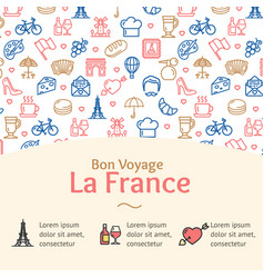france travel concept infographics banner vector image vector image
