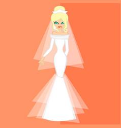 Girls in bride costume no2 vector