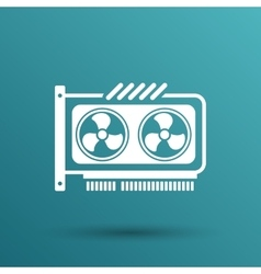 GPU or Computer graphic card icon component vector image