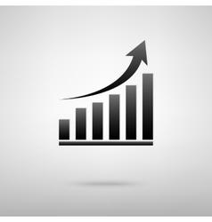 Growing gruph black icon vector image vector image