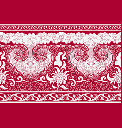 horizontal seamless background imitation oriental vector image vector image