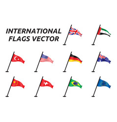 international flags vector image vector image