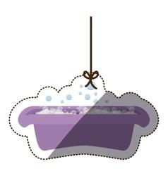 Isolatd baby bath design vector