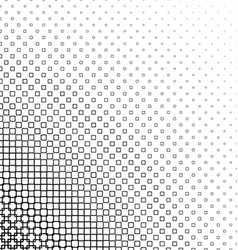 Monochrome abstract square pattern design vector image vector image