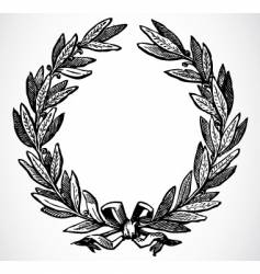 olive leaf wreath vector image