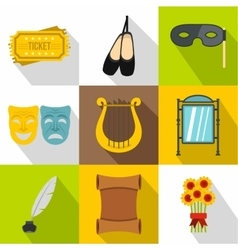 Performance icons set flat style vector