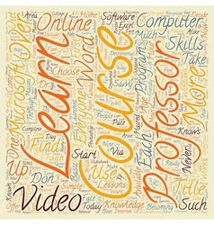 Review Of The Video Professor Computer Course text vector image