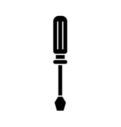 screwdriver line icon black vector image
