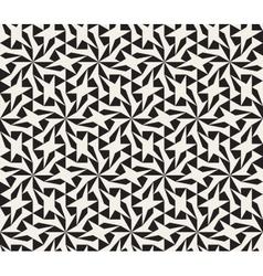 Seamless black and white geometric star vector