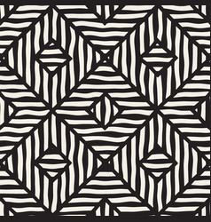 Seamless hand drawn pattern zigzag and vector