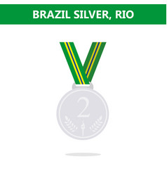 silver medal brazil rio olympic games 2016 vector image