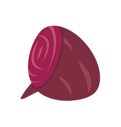Slice beet food healthy image vector
