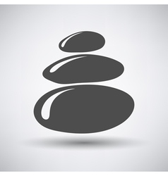Stack of spa stones icon vector