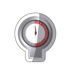 Sticker screen stopwatch timer counter icon vector