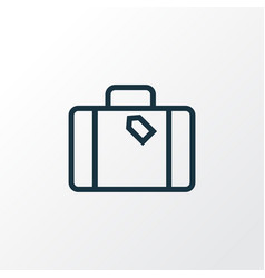 Suitcase outline symbol premium quality isolated vector