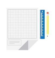 Technical drawing icon vector