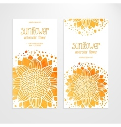 Templates of banners with watercolor vector