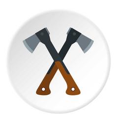 Two axes icon circle vector