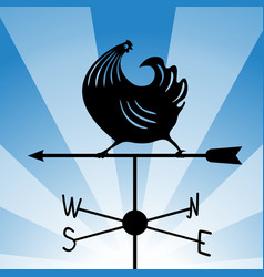 Weathervane - running rooster 4 vector