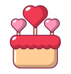 Wedding cake icon cartoon style vector
