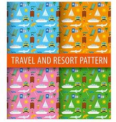 patterns of resort vector image