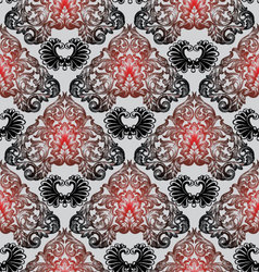 Stylish baroque antique vintage seamless pattern vector
