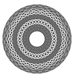 Mandala in esoteric style Set of isolated rings of vector image