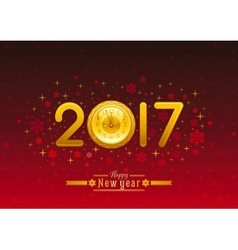 New year 2017 placard banner template design vector