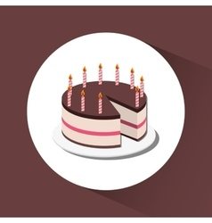 Delicious cake and dessert vector