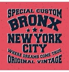 Bronx vintage stamp vector