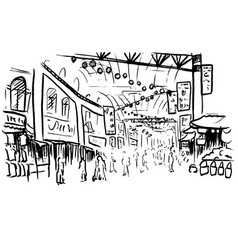 Sketch of chinatown vector