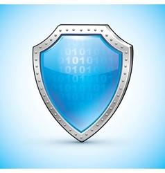 Shield protection symbol safety emblem vector image