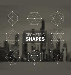 Abstract regular geometric shapes set vector